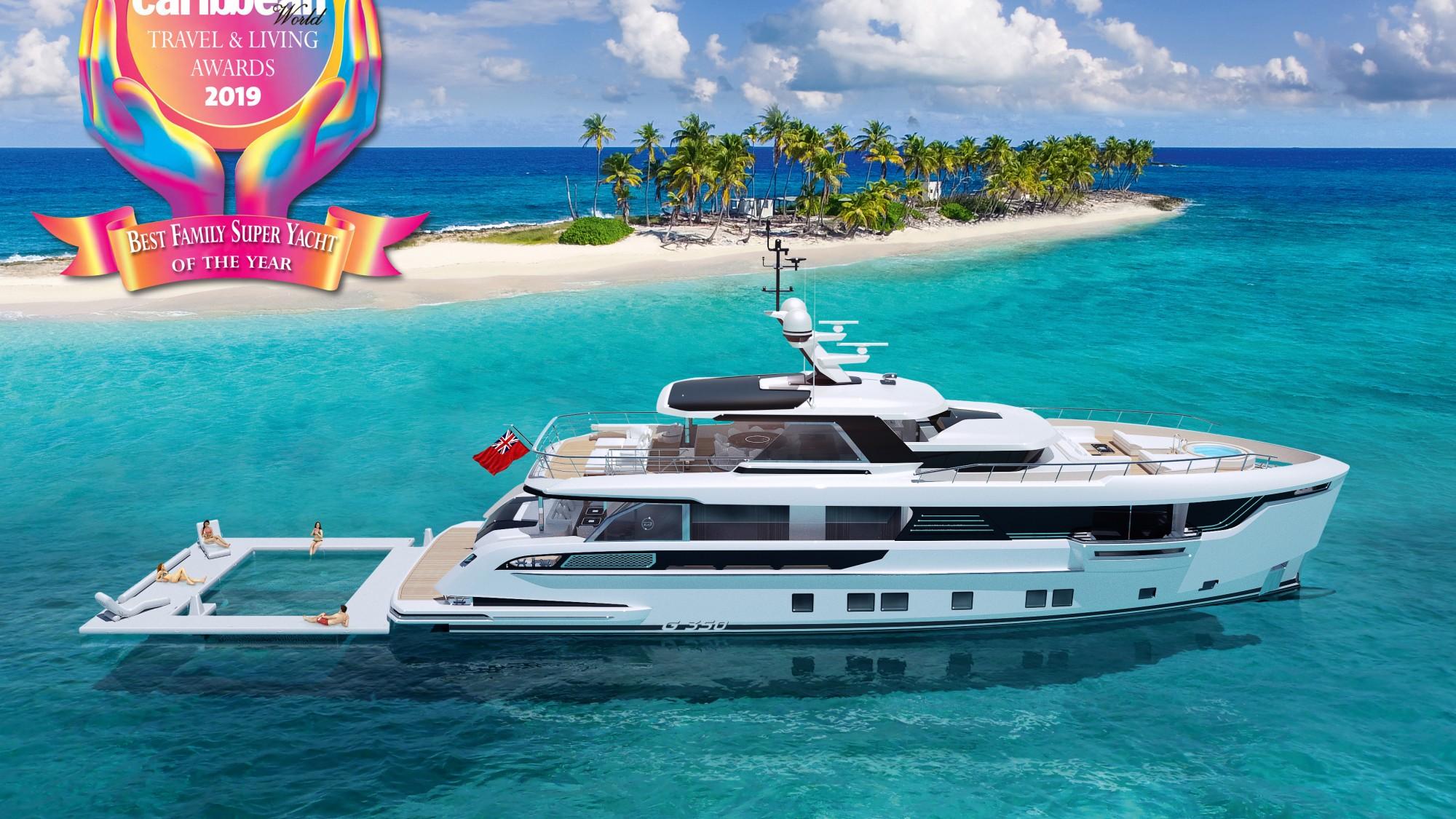 Dynamiq wins Best Family Superyacht award from Caribbean World Magazine!