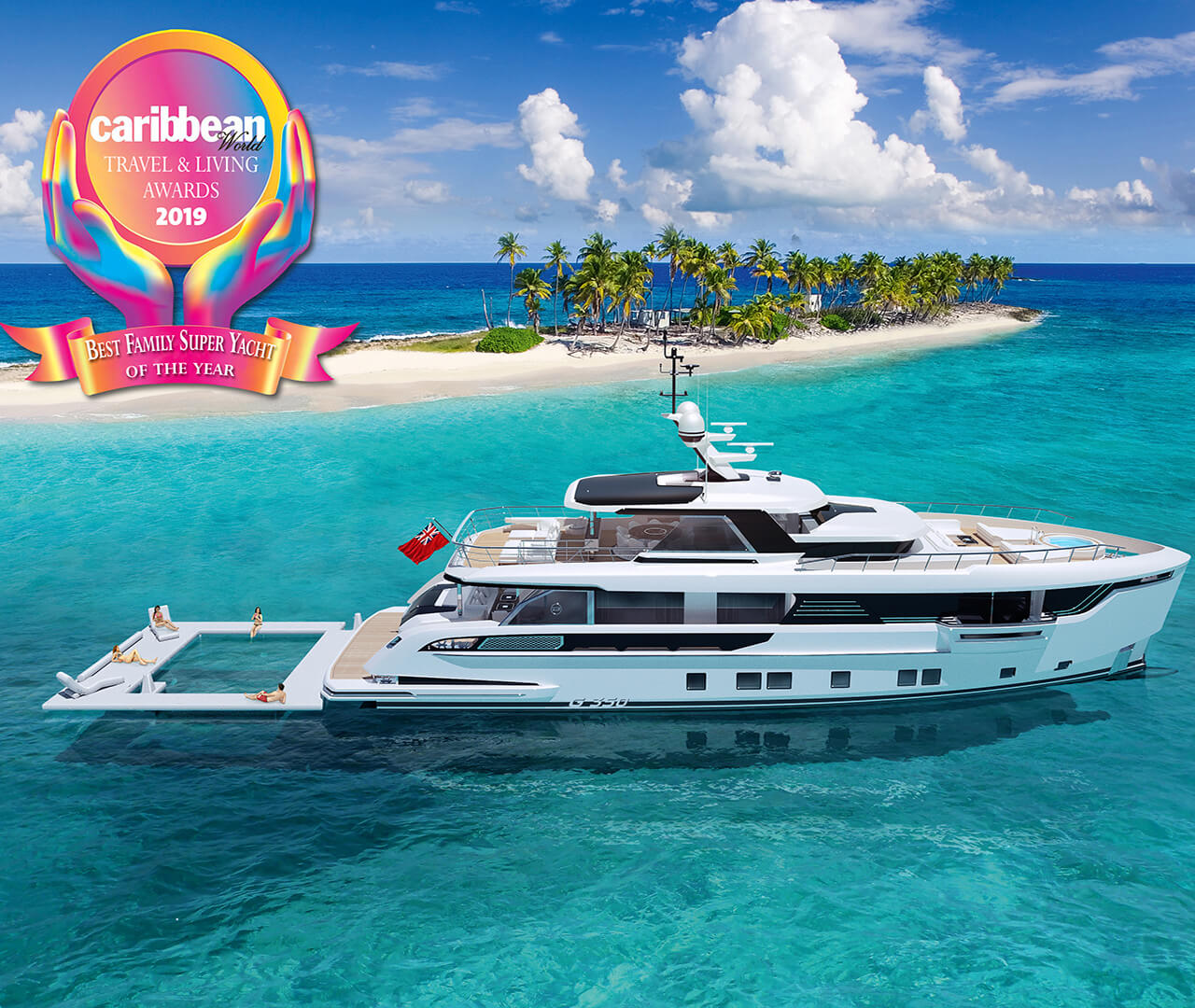 Dynamiq wins Best Family Superyacht award from Caribbean World Magazine!