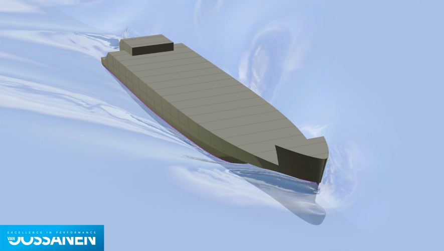Fast displacement hull form