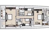 Lower deck arrangement 5 cabins