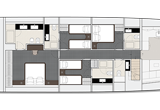 4 cabins arrangement