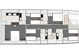 5 cabin arrangement