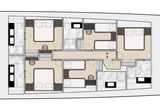Lower deck arrangement 6 cabins