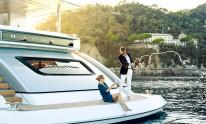 Models on Dynamiq Jetsetter yacht