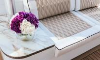 Dynamiq Jetsetter yacht floral arrangement
